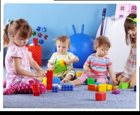 Kids playing lego